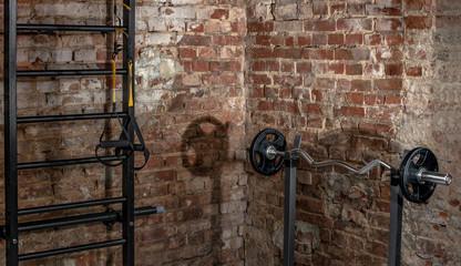 gym indoor interior with weight