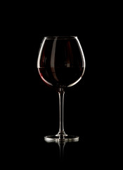 Fototapeta bottle and wine glass with red wine obraz