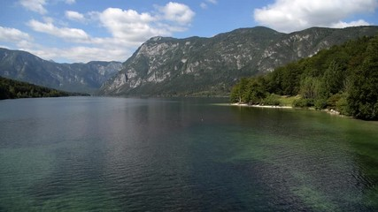 Wall Mural - Lake Bohinj Valley of the Julian Alps. Upper Carniola Region, and Part of Triglav National Park.
