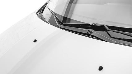 Photograph of a car windscreen wiper