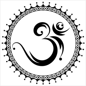 Aum (Om) The Holy Motif Design