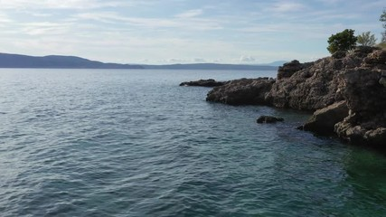 Wall Mural - Croatian Adriatic Sea Scenery. Mediterranean Sea Coast. European Summer Destination.