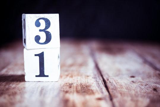 Number 31, thirty one, three and one - date, anniversary, birthday