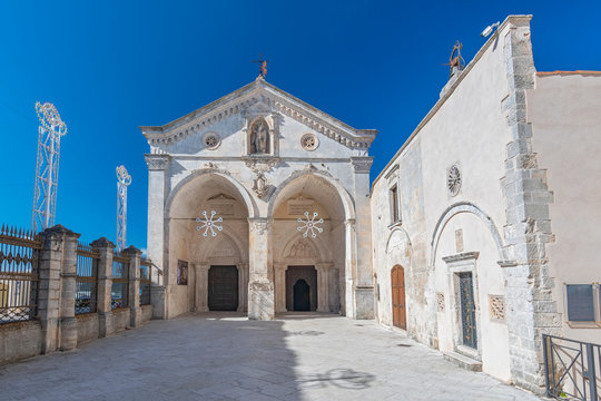 The Sanctuary of Monte Sant'Angelo, catholic sanctuary on Mount Gargano in the province of Foggia, northern Apulia, Italy.