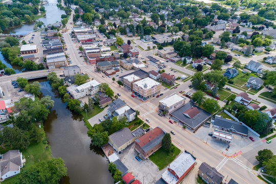 Aerial view of Mayville Wisconsin