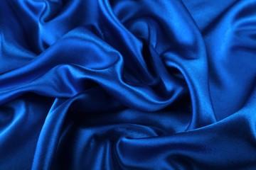 Beautiful blue silk fabric texture background