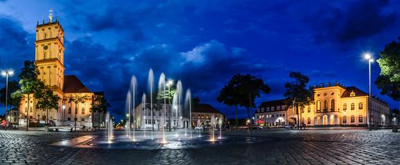 Neustrelitz Marktplatz Blaue Stunde