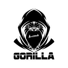 gorilla head logo vector image,sport logo