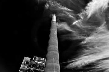 Power plant chimney
