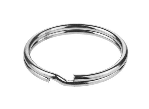 Metal ring isolated on a white background.