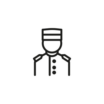 Concierge line icon. Guest relation manager, service, staff. Hotel concept. Vector illustration can be used for topics like hotel business, tourism, service industry