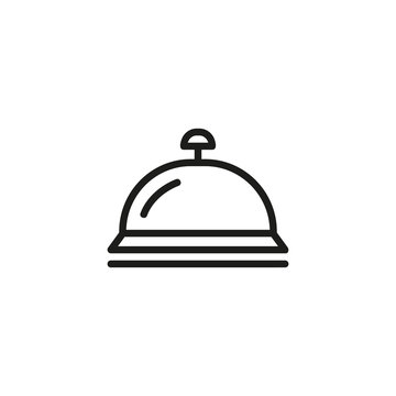 Hotel bell line icon. Bell, ringing, reception. Hotel concept. Vector illustration can be used for topics like hotel business, tourism, service industry