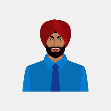Smiling Indian businessman in turban