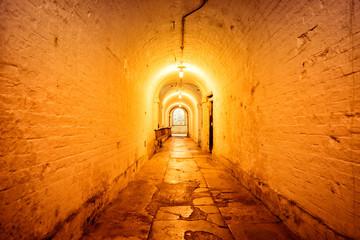 Underground Tunnel Lit Passage Way