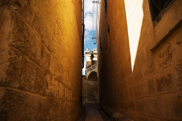 Narrow alleyway in Attard, Malta