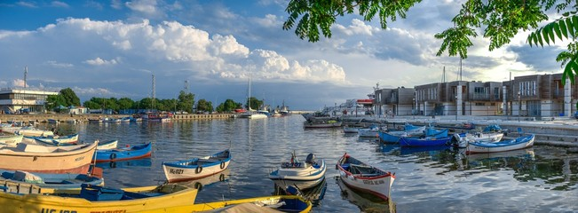 Marina in the resort of Nesebar, Bulgaria