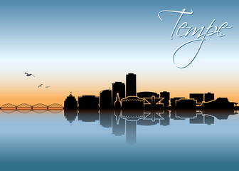 Fototapete - Tempe skyline - Arizona, United States of America, USA - vector illustration