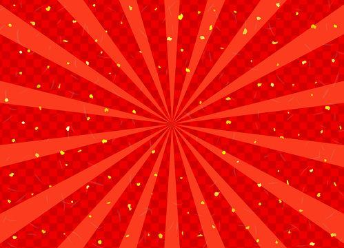 放射状の市松模様背景 金粉