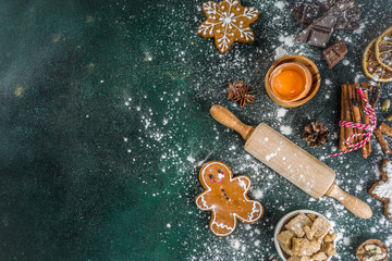 Christmas and New Year baking background
