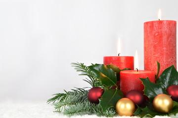 Fototapeta warm candlelight for advent and christmas obraz