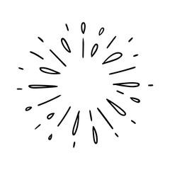Vector illustration of water splash isolated on white background. Doodle style