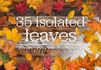 Autumn Leaves Mockup