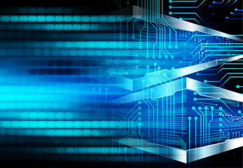 binary circuit board future technology, blue eye cyber security concept background, abstract hi speed digital