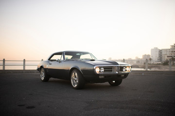 Muscle car 1967 front view