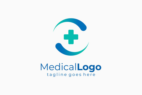 Circular Letter C Medical Logo Health Icon Vector Logo Design
