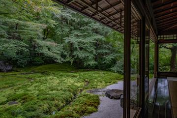 京都 瑠璃光院 日本庭園 紅葉 数寄屋造り 観光 写真素材 八瀬 お抹茶 お茶室 ライトアップ