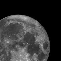 Full super moon isolated in the black for iillustration. Also there are the alps and montes apenninus with the copernicus crater.