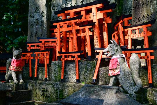 Shrine detail, Fushimi Inari Shrine, Kyoto, Honshu, Japan