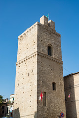 The old medieval towers in Lanciano, Italy