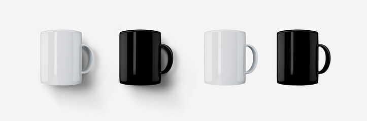 front view cup mug
