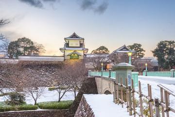 Fototapete - Kanazawa, Japan at Kanazawa Castle