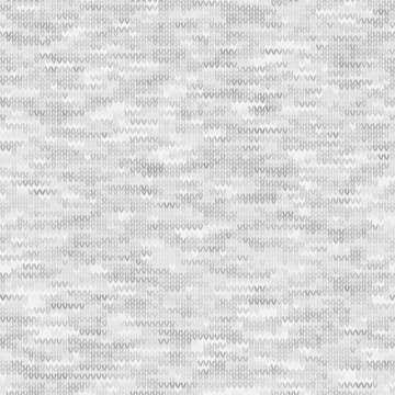 White Grey Marl Knit Melange. Heathered Texture Background. Faux Knitted Fabric with Vertical T Shirt Style. Seamless Vector Pattern. Light Gray Space Dye for Textile Effect. Vector EPS 10 Tile Repeat
