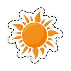 patch of radiant sun isolated icon