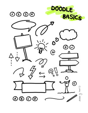 Doodle Sketchnote Template for Workshops, Seminar, Flipchart and Graphic Recording
