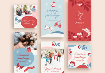 Wintry Holiday Greetings Set