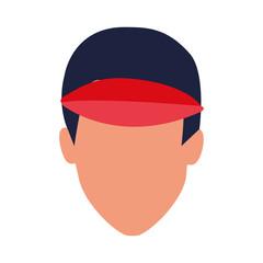 avatar man wearing a cap icon