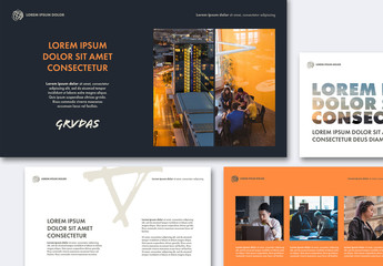 Pitch Presentation Layout with Bright Elements
