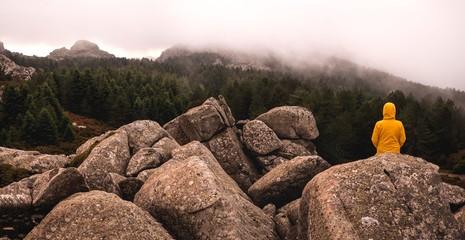 Limbara mountain, mountain landscape of Sardinia, Olbia-Tempio.
