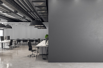 Fotomurales - Contemporary meeting room with poster