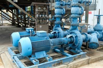 Blue color centrifugal pump