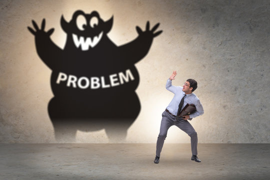 Businessman afraid of big problem