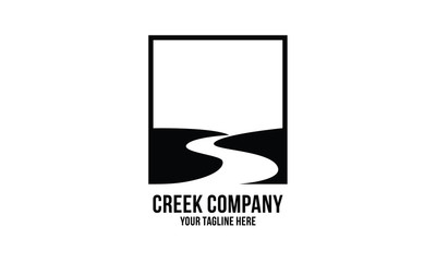 creek logo design inspirations Wall mural