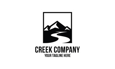 creek and mountain  logo design inspirations Wall mural