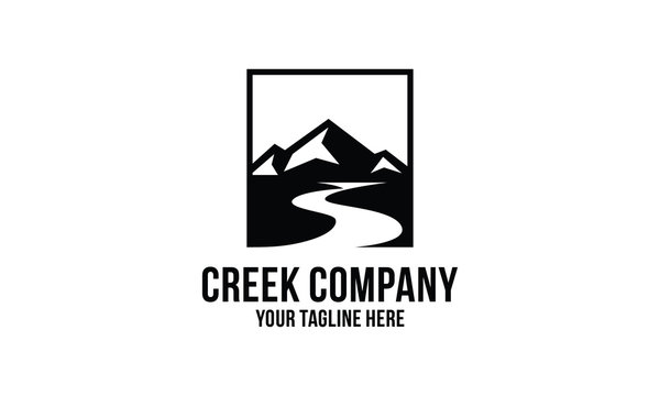 creek and mountain  logo design inspirations
