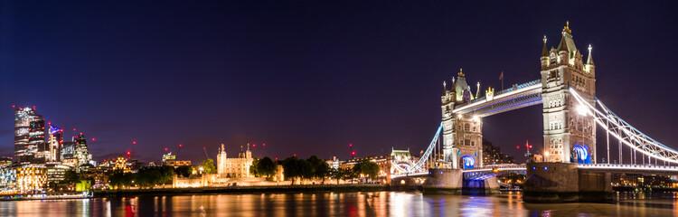 London Tower Bridge at Twilight, London UK.
