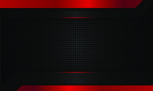 dark red technology background, modern technology wallpaper, dark black and red line, futuristic deep background, vector.